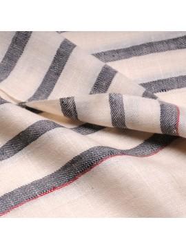 ARMOR CLASSIC, real pashmina 100% cashmere with breton stripes
