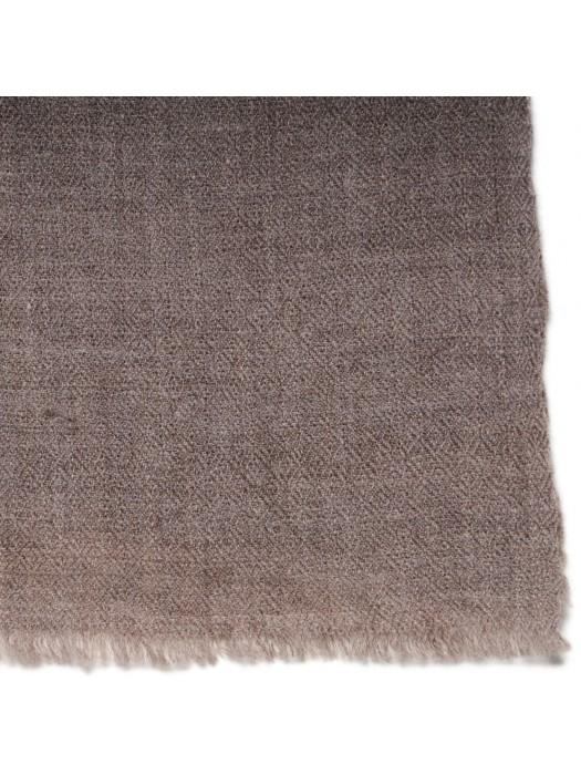 Handwoven Cashmere Pashmina L Natural Dark Grey Brown