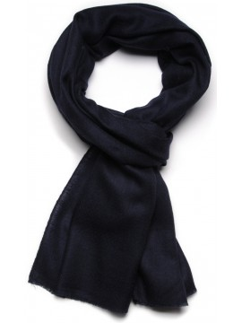 Handwoven cashmere pashmina Stole Night blue