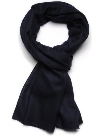 Handwoven cashmere pashmina Stole Night blue