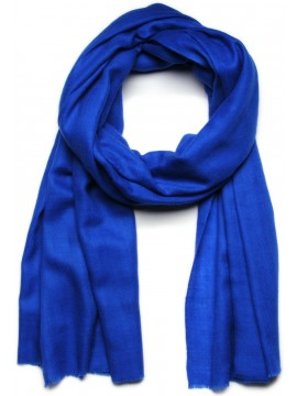 Véritable Pashmina 100% cachemire Lechâle Bleu cobalt