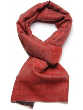 EVA RED, Real embroidered pashmina shawl 100% cashmere