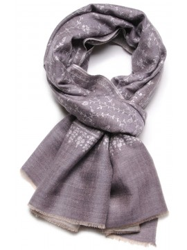 EVA GREY, Real embroidered pashmina shawl 100% cashmere