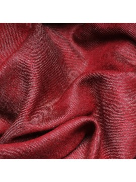 SWAN RED, Handwoven cashmere pashmina Shawl reversible