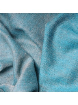 SACHA TURQUOISE, Handwoven cashmere pashmina Stole REVERSIBLE