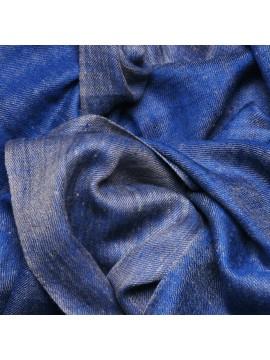 SACHA BLUE, Handwoven cashmere pashmina Stole REVERSIBLE