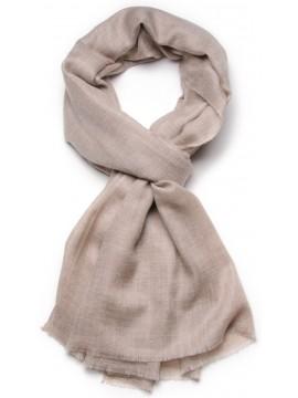 Genuine Toosh pashmina shawl 100% cashmere Natural grey brown