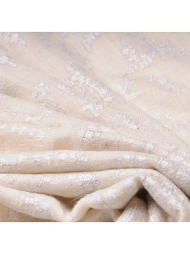 BIANCA IVORY, real pashmina 100% cashmere with handmade embroideries