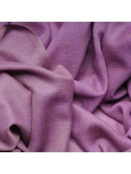 SACHA PURPLE, Handwoven cashmere pashmina Stole REVERSIBLE