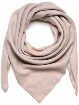 Handwoven cashmere pashmina Square Natural light beige