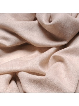Handwoven cashmere pashmina Square Natural light beige