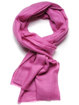 Handwoven cashmere pashmina Stole heather pink