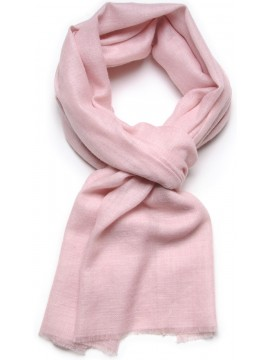 Véritable Pashmina 100% cachemire L'Étole Rose pastel