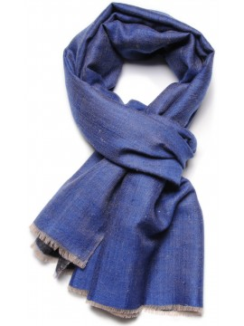 REVA INDIGO, Handwoven cashmere pashmina Stole dual shaded