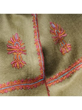 BETTY GREEN, real pashmina 100% cashmere with handmade embroideries