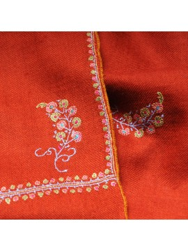 BETTY RUST, real pashmina 100% cashmere with handmade embroideries