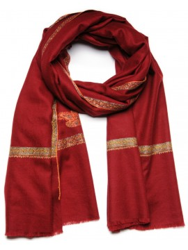 ASHLEY GARNET, Real embroidered pashmina shawl 100% cashmere