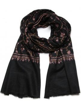 JANE BLACK, Real embroidered pashmina shawl 100% cashmere