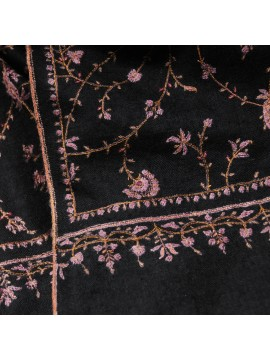 JANE BLACK, Real embroidered pashmina shawl 100% cashmere