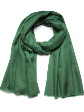 Genuine pashmina shawl 100% cashmere forest green big size