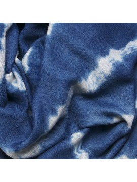 INDIGO TIE&DYE, Handwoven cashmere pashmina Stole