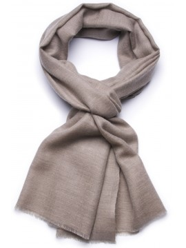 Handwoven cashmere pashmina Stole Natural dark grey brown