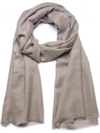 Handwoven cashmere pashmina Shawl Natural dark grey brown