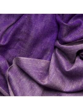 SWAN VIOLET, Handwoven cashmere pashmina Shawl reversible
