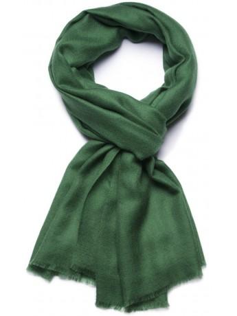 Handwoven cashmere pashmina Stole Moss green