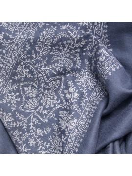 MAE GREY, Real embroidered pashmina shawl 100% cashmere