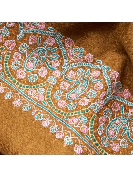 MAE KAKHI, Real embroidered pashmina shawl 100% cashmere