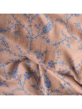 JANE BLUE, Real embroidered pashmina shawl 100% cashmere
