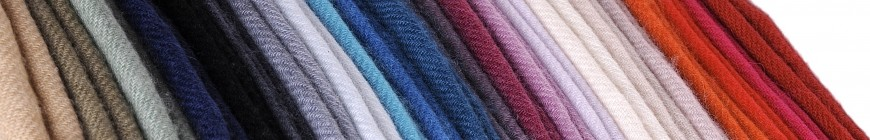 100% cashmere twill weaving plain color
