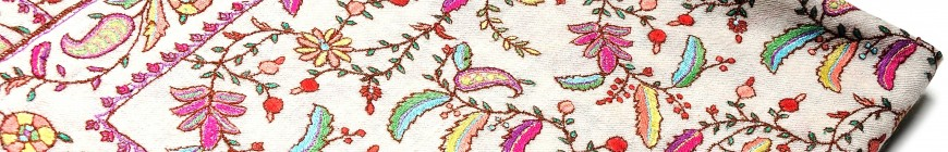 EMBROIDERED cashmere pashmina
