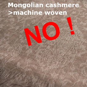 this jacquard weaving shows it is a fake machine made pashmina