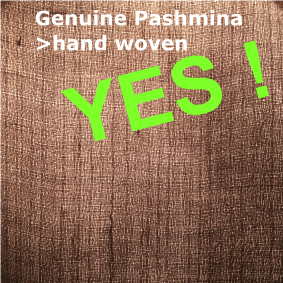 A real pashmina presents an irregular weaving guarantee of the realization in the hand