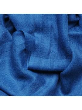 Véritable Pashmina 100% cachemire Bleu saphir