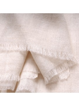 Genuine Toosh pashmina shawl 100% cashmere Natural white