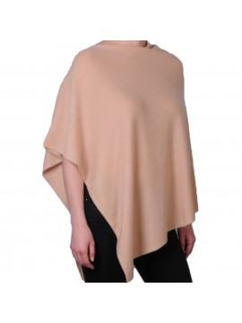 100% cashmere poncho camel