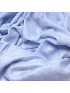 Genuine light blue pashmina 100% cashmere