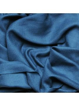 Véritable Pashmina 100% cachemire bleu canard