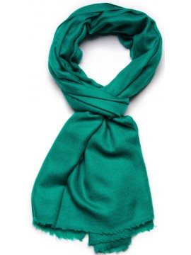 Vera pashmina 100% cashmere Stola Verde smeraldo