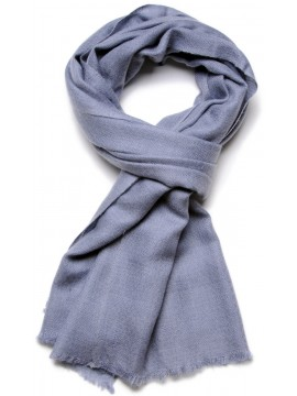 Genuine forget-me-not blue pashmina 100% cashmere