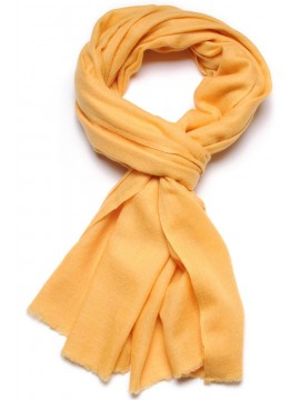 Handwoven cashmere pashmina Stole Sunglow yellow