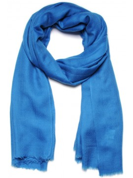 Handwoven cashmere pashmina Shawl Sapphire blue