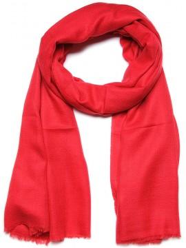 Handwoven cashmere pashmina Shawl Tango red