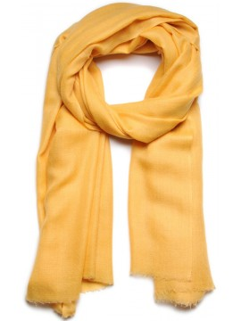 Handwoven cashmere pashmina Shawl Sunglow yellow