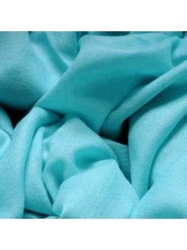 Véritable Pashmina 100% cachemire Bleu Aqua Grand modèle