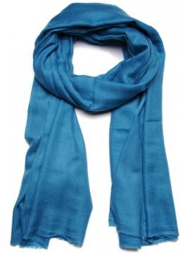 Handwoven cashmere pashmina Shawl Teal blue