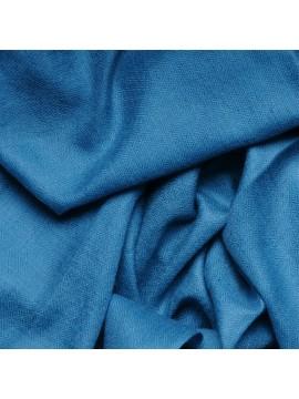 Véritable Pashmina 100% cachemire Bleu canard Grand modèle